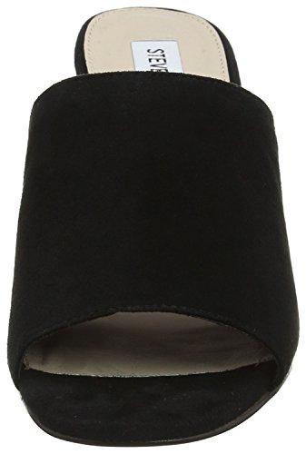 Sandal negras 6 EU Sandalias UK Steve Mules negras Dalis de 39 mujeres Madden para An6x5wpUFq