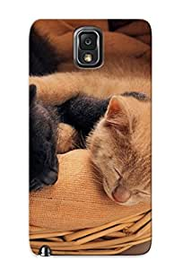 Exultantor Rugged Skin Case Cover For Galaxy Note 3- Eco-friendly Packaging(animal Cat)