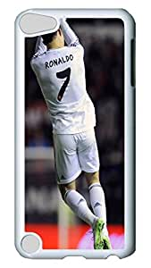 iPod 5 cases, iPod Touch 5 cases, Fashion Champions La Final Real Madrid Cute Pattern Bumper Protection [Heavy Drop Protection] Ultra Slim Hard White PC Snap-on Back Shell Protective Skin Case Cover For IPod Touch5 5th