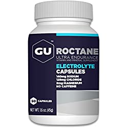 GU Roctane Electrolyte Capsules, 50-Count Bottle