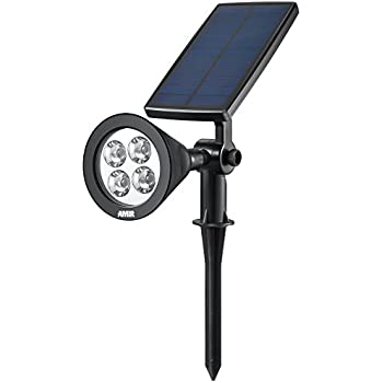 AMIR Upgraded 2 in 1 Solar Lights, 360° Adjustable Waterproof Outdoor Landscape Lighting Spotlight Wall Light Auto On/ Off for Yard Garden Driveway Pathway Pool Tree Patio