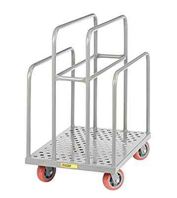 """Little Giant LCP-2436-S-6PY Perforated Deck Lumber Cart, 24"""" x 36"""", Gray"""