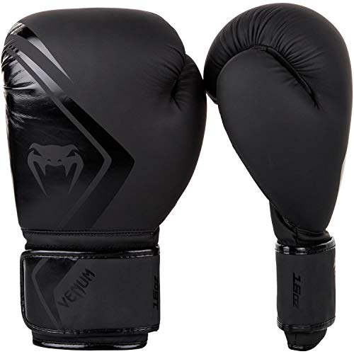 Venum Boxing Gloves Contender 2.0-12oz, Black/Black, 12 oz