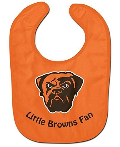 Cleveland Browns Baby Bib - All Pro Little Fan by Hall of Fame - Malls Shopping Cleveland