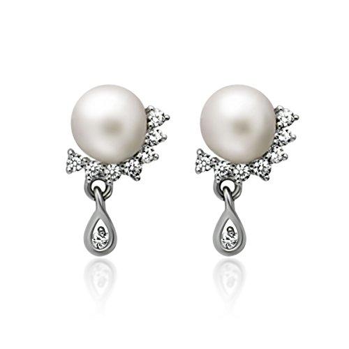 Sterling Earrings Teardrop Simulated Bridesmaid product image