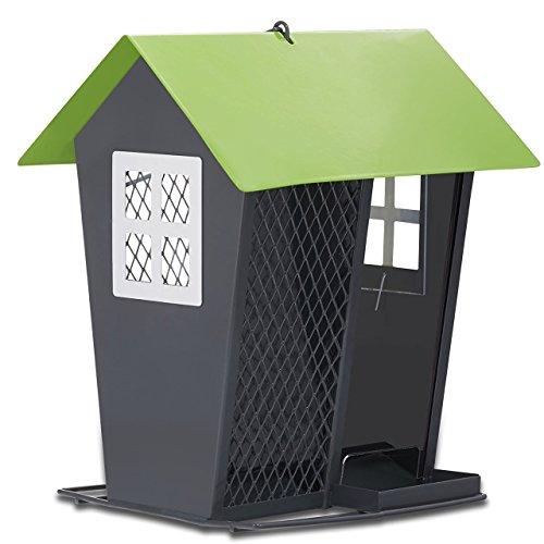 - Perky-Pet 420 Gray Seed Duo Wild Bird Feeder, Gray & Green, Gray & Green