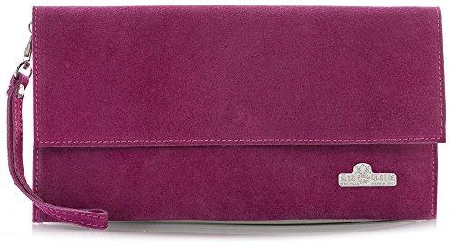 Real Clutch Ladies LIATALIA Italian CHERYL Leather Purse Party Wristlet Womens Bag Wedding Pink Hot Handbag Suede 0WwgwEnTq