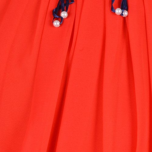 41uGDMR6W9L. SS500  - Aarika Girl's Chiffon Party Wear Top and Short Set