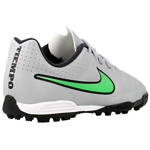 Nike JR Tiempo Rio II TF Kinder Fussballschuhe wolf grey-green strike-black-black - 36