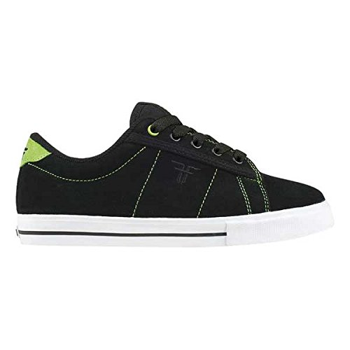 Fallen BOMBER Youth 23818043 - Zapatillas de skate de ante unisex Negro (Black/Bright Green)