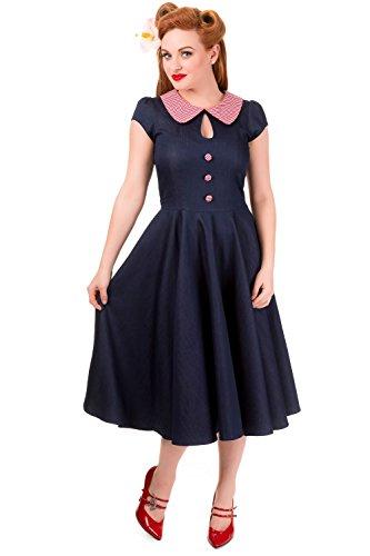 Banned Kleid BLUEBERRY HILL DRESS 5049 Denim 5bwf2XE