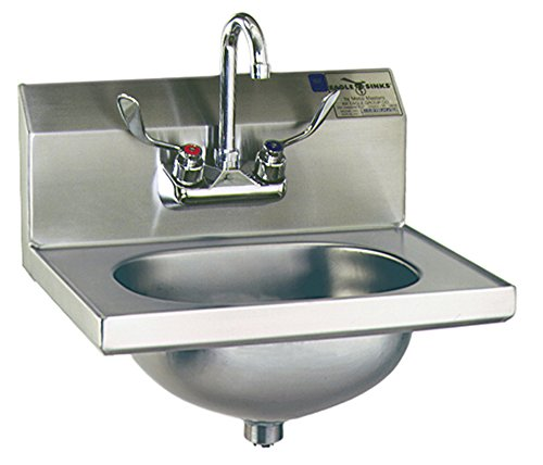 (Eagle HSA-10-FW Hand Sink, Stainless Steel, Wall Mount, 18-7/8