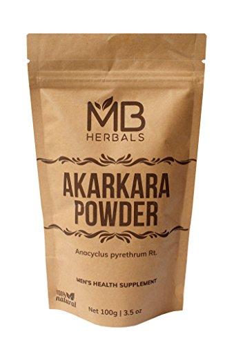 MB Herbals Pure Anacyclus Pyrethrum Root Powder 100g | 3.5 oz | Akarkara | Akar Kara | Pellitory | Longwort Root Powder | Spanish Chamomile Root Powder