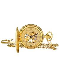 Charles Hubert 3861-G Reloj de bolsillo mecánico chapado en oro