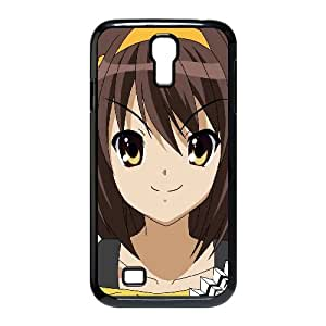 Chica Haruhi Suzumiya morena linda sonrisa 23474 Samsung Galaxy S4 9500 caja del teléfono celular funda Negro caja del teléfono celular Funda Cubierta EEECBCAAJ73518