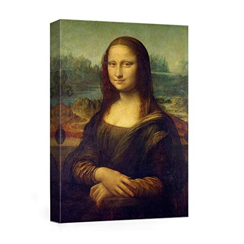- JunTung Mona Lisa by Leonardo Davinci Art Reproduction Print Framed Canvas Wall Art for Home Office Wall Decor 12