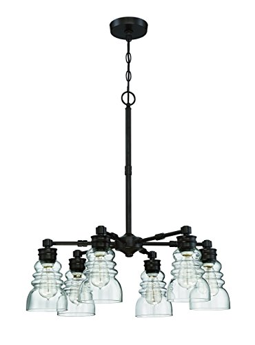 Litex CH46-6OSB 6 Light Modern Chandelier Pendant Ceiling Light Fixture, 5.5