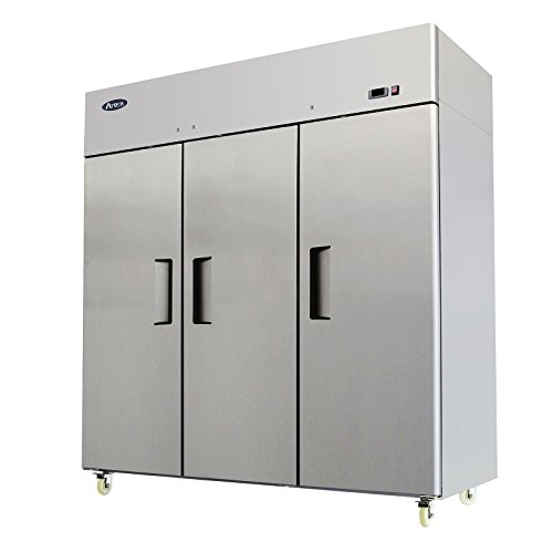 Refrigerator 3 Door Undercounter (Atosa USA MBF8006 Series Stainless Steel 78-Inch Three Door Upright Refrigerator - Energy Star Rated)