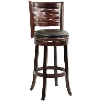 Boraam 48029 Sumatra Bar Height Swivel Stool, 29-Inch, Cappuccino