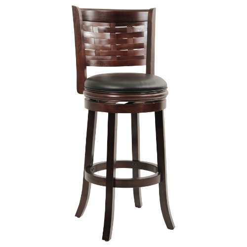 Boraam 48029 Sumatra Bar Height Swivel Stool, 29-Inch, Cappuccino (Antique Wood Bar For Sale)