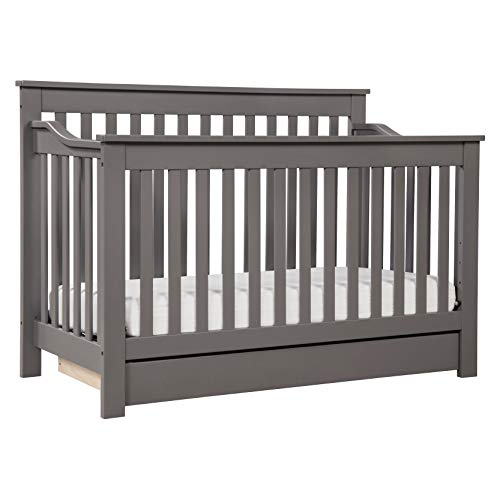 - DaVinci Piedmont 4-in-1 Convertible Crib with Toddler Rail, Slate