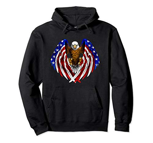 American Eagle Patriot T-Shirt US Flag With Eagle Gift Shirt Pullover ()