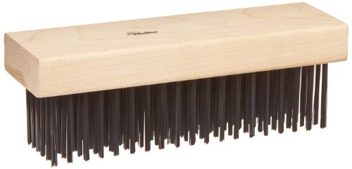 Weiler Wire Scratch Brush, Steel, Straight Wire, 0.014