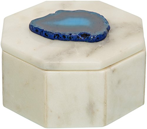 Designed By Heart Agate and Marble Trinket/Jewellery box
