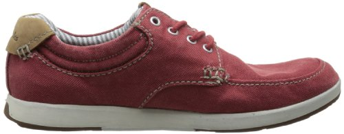 Clarks Mens Norwin Vibe Oxford Red