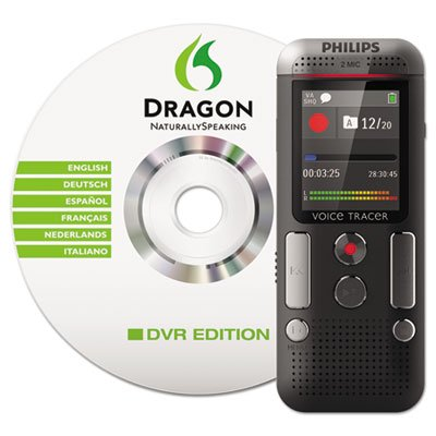 Philips Voice Tracer DVT2700/00 Digital Voice Recorder, Black (Voice Recorder To Text Software)