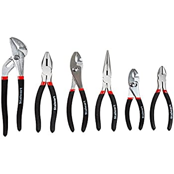 Stalwart 75-HT3005 Utility Plier Set with Storage Pouch, 6 Piece