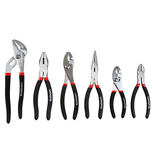 Plier 6 Piece (Stalwart 75-HT3005 Utility Plier Set with Storage Pouch, 6 Piece)