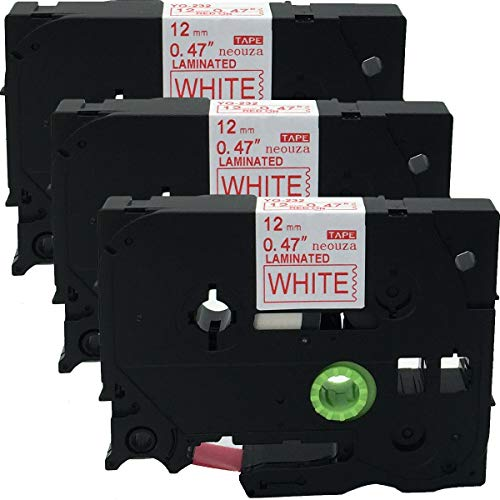 2PK Black//Red on Clear Label Tape For Brother TZe-131 TZe-132 P-touch 12mm 8m