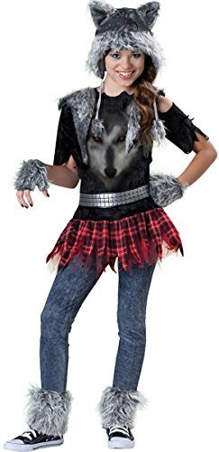 Teenage Girls 6 Piece Werewolf Halloween Animal Horror Film Fancy Dress Costume Outfit 8-14 years (12-14 years) by Fancy (Werewolf Outfits Halloween)
