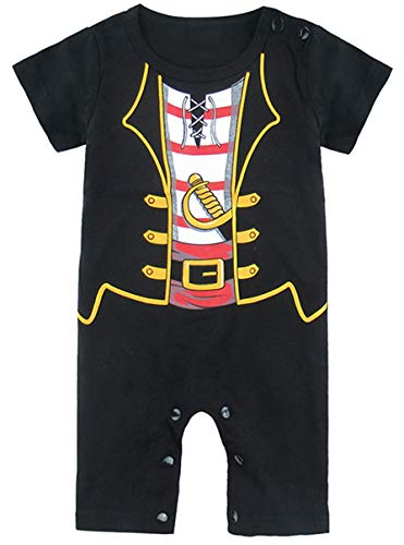 (Mombebe Baby Boys' Pirate Costume Romper (0-3 Months,)