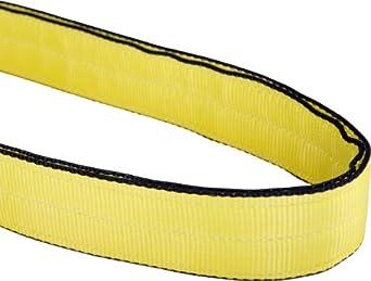 Mazzella EN2 Edgeguard Nylon Web Sling, Endless, Yellow, 2 Ply, Vertical Load Capacity
