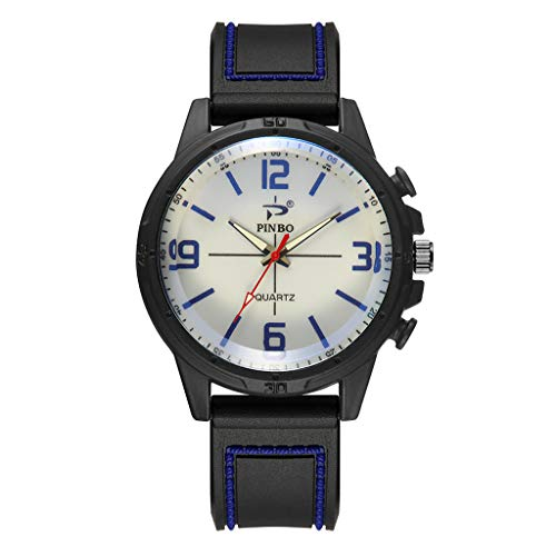 tary Army Analog Watch,Field Tactical Sport Wrist Watches for Men Black Nylon Strap Day Date ()