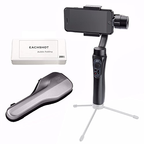 Zhiyun Smooth-Q 3-Axis Handheld Gimbal Stabilizer for Smartphone Like iPhone X 8 7 Plus 6 Plus Samsung Galaxy S8+ S8 S7 S6 S5 Wireless Control Vertical Shooting Panorama Mode (Zhiyun Smooth Q Black) (Panorama Adapter)