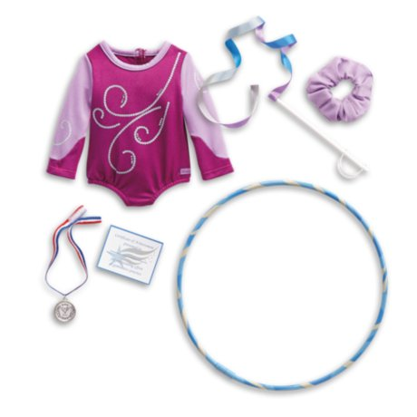 American Girl - Rhythm Gymnastics Outfit for Dolls - Truly Me 2015 - Foil Gymnastic Leotard