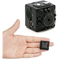 MILALOKO Mini Camera Small Camera 1080P HD Portable Sports Camera with IR Night Vision,TV-OUT Digital Video Photos Cube Camera Supports Motion Detection, Nanny Cam (No TF Card Included)