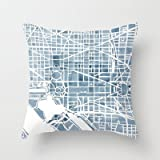 New Throw Pillow Cover pillowcases New Washington Dc Blueprint Watercolor Pillowcase Home Decoration pillowcase by Throw Pillows Pillowcase