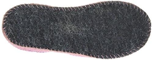 Haflinger Mädchen Uno Hausschuhe, Pink (Puder), 24 EU