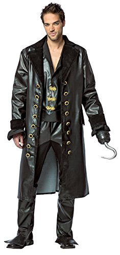 Hook Once Upon A Time Costume (Rasta Imposta Men's Once Upon A Time Hook Outfit Adult Fancy Dress Halloween Costume, XXL (50-52))