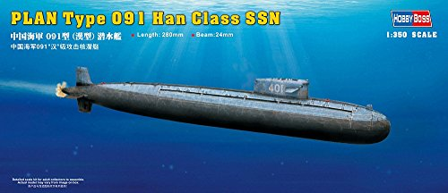Hobby Boss PLAN Type 091 Han Class SSN Boat Model Building Kit from Hobby Boss
