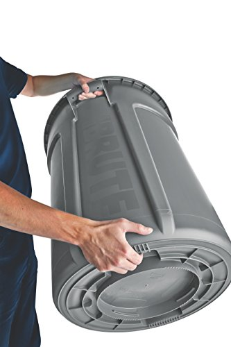Rubbermaid Commercial Products Brute Heavy-duty Round Wasteutility Container With Venting Channels, 10-gallon, White (Fg261000wht)