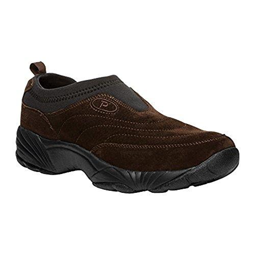 Propet Mens Wash & Wear Slip-on Ii Mocka Sko Brownie / Svart 8,5 M (d) & Cleaner