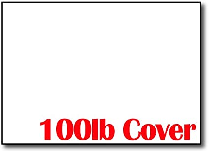 Ultra Thick 100lb Cover White 5 X 7 Cards/Invitations / Cardstock Sheets (100 Cards) Desktop Publishing Supplies Inc.