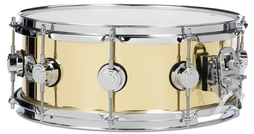 (DW 5.5X14 Brass Polished Snare Drum w/Chrome)