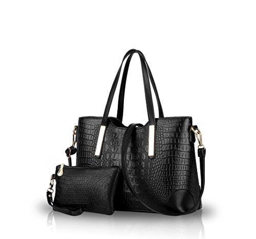 La Patrón Bag Bolsos Diagonal Big Señoras Bolsa Black Bolso Hombro Nicole Cocodrilo De Moda amp;doris black Las Nuevos Ocasional qSa1XY