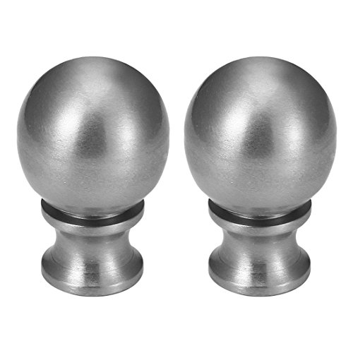uxcell 2pcs Brushed Nickel Metal Ball Lamp Finial Decoration 1-1/2 inch high